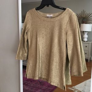 Gold cotton top